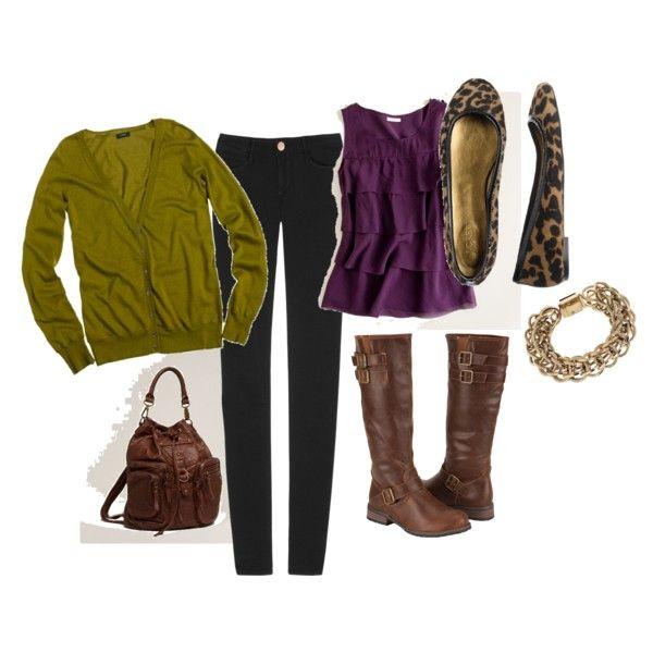 brown, dark purple, green, flowey, structured.... <3