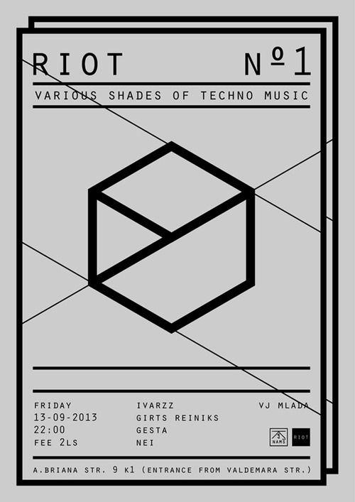 Geometric Poster . Graphic Design . Techno Music