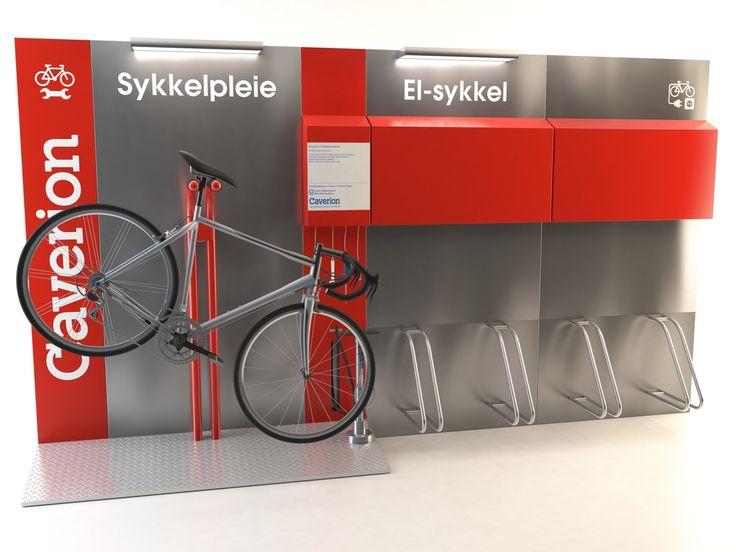 Design og utvikling av sykkelpleiestasjoner og moduler for lading av el-sykkel. INNOFORM/Caverion.På lager nå!