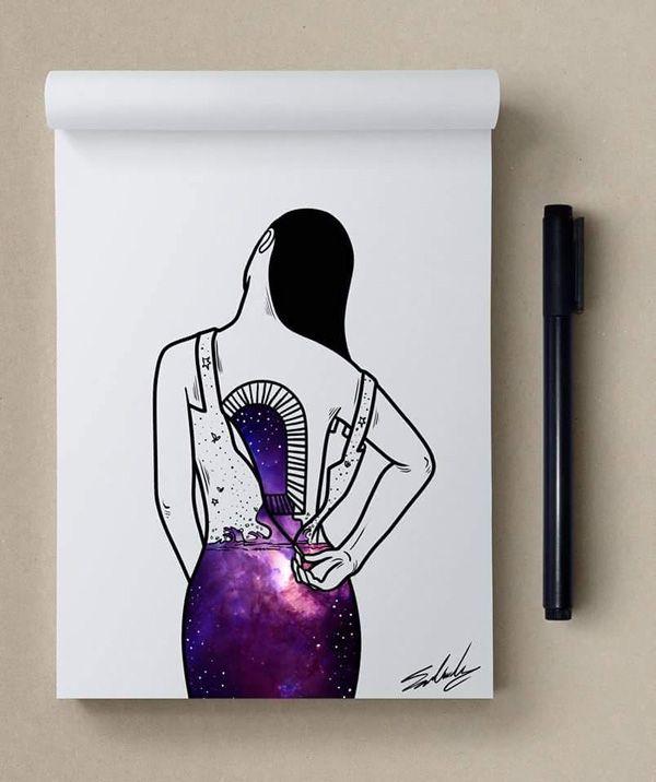 Oceano profundo - Estrelas temáticos Ilustrações de Muhammed Salah |  Arte e…