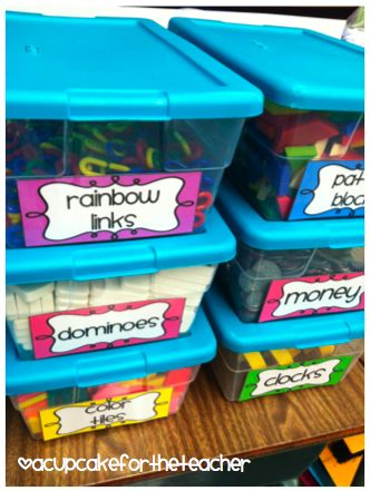 Organize Your Math Manipulatives!: Classroom Math, Math Labels, Teacher Stuff, Teacher Blog, Storage Idea, Manipulative Storage, School Math, Classroom Organization