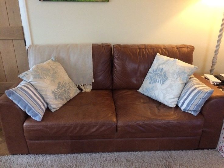 Second Hand Brown Leather Sofa Suffolk