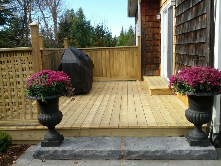 Low Elevation Decks Steps From Back Door Low Level Deck