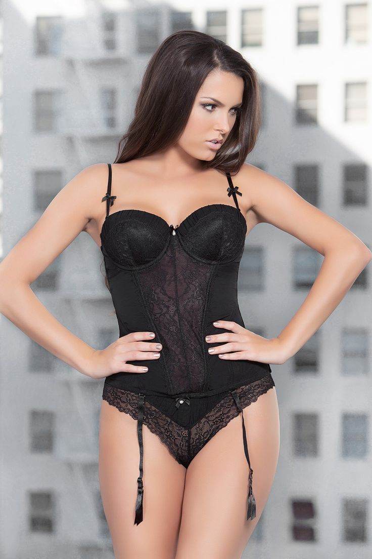 Ida Black Bustier/Brazilian Thong - Winter Shape Up - Collections