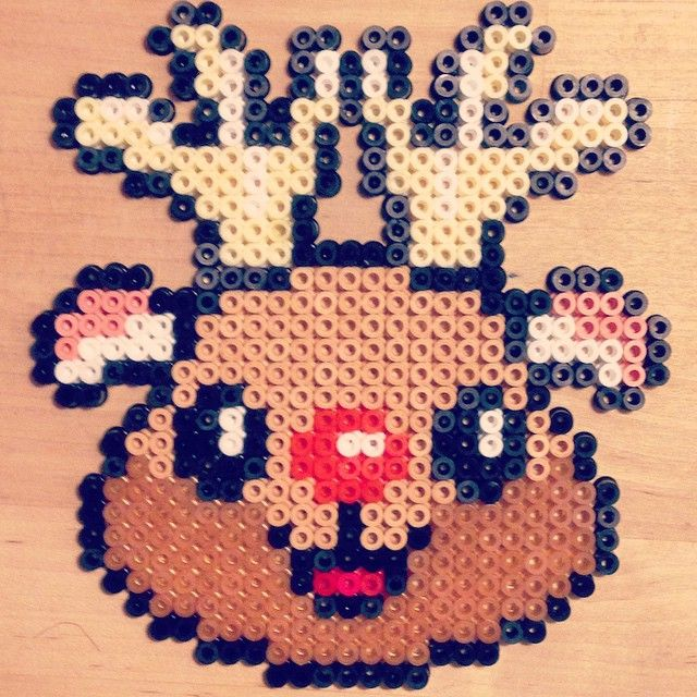 Rudolph reindeer - Christmas hama perler beads by klaus_med_k