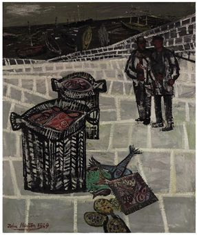 John Minton - Two Fishermen 1949 oil on canvas