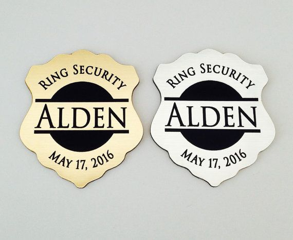 Ring Security Bearer Gift Badge Personalized Groomsmen Gifts Wedding