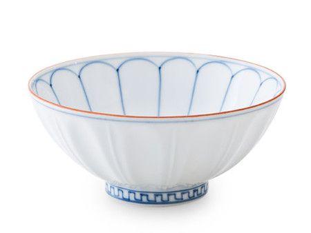 賞美堂(其泉窯) : ご飯茶碗 染付外彫内菊(大) | Sumally