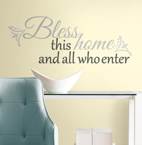 Bless this Home Peel & Stick Wall Decals Wall Decal - AllPosters.ca