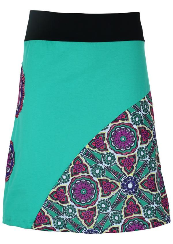 Karma East - Nouveau Mandala Mint Skirt