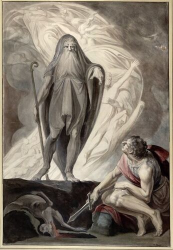 Johann Heinrich Füssli d. J., Teiresias erscheint Odysseus beim Totenopfer, 1780-85 © Albertina, Wien