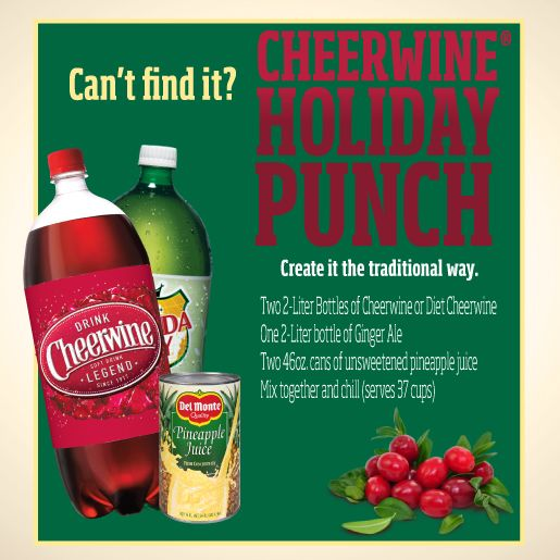 Santa didn't deliver Cheerwine® Holiday Punch to you this year? Not to worry. Recreate the traditional recipe at home! #survivingtheholidays with #cheerwineholidaypunch