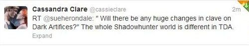 The WHOLE shadowhunter world?! What the hell Cassie!?