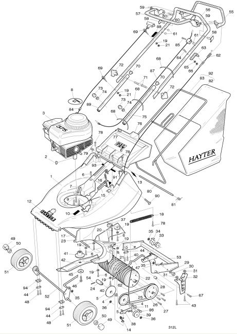 rear engine diagram 3800 v6 engine 1000+ images about hayter harrier 41 spares parts diagrams ...