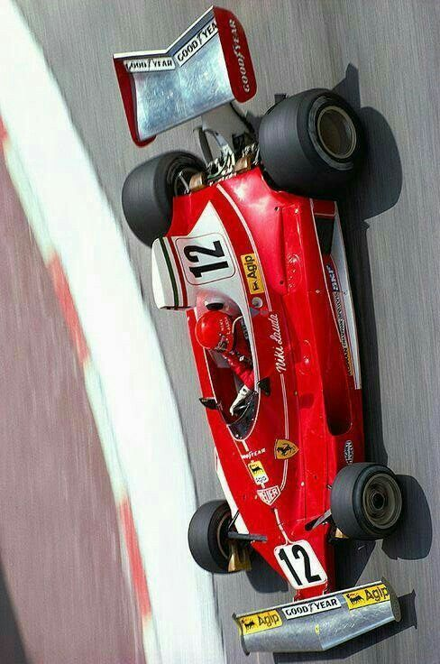#12 Niki Lauda...Scuderia Ferrari SpA SEFAC...Ferrari 312T...Motor Ferrari 015 F12 3.0...GP Monaco 1975
