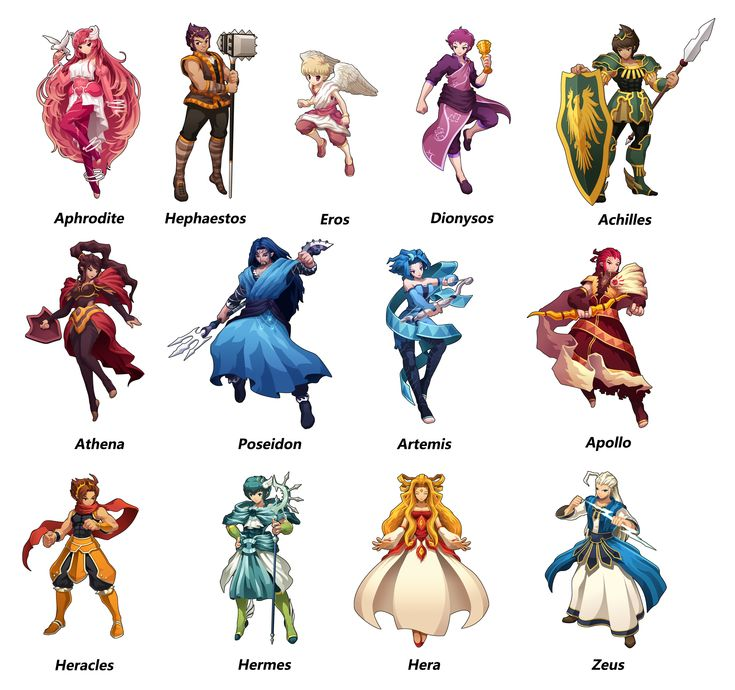 Greek Mythology Figures Greek Mythology Character By