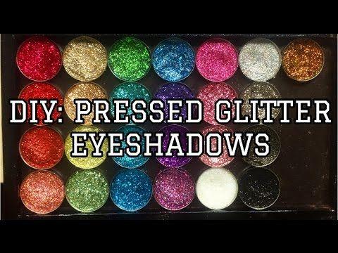 HOW TO - DIY pressed glitter eyeshadow pans   Yasmine Alom - YouTube