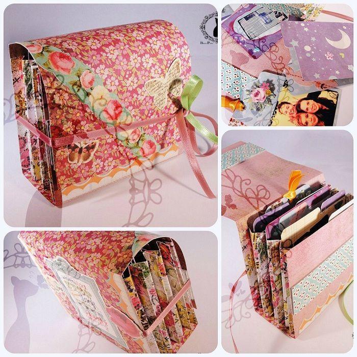 pinterest en español manualidades | Tutorial paso a paso de Carpeta scrapbook con separadores | Cinderella ...