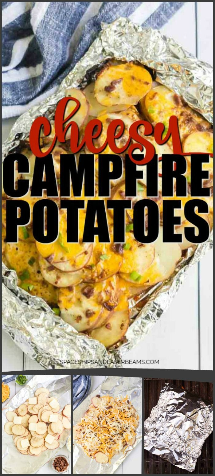 These campfire potatoes, homemade, are baked in a baking wrapper.   – Winter Crafts, Parties, and Recipes