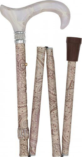 Lowest Price on Creme Pearlz Designer Adjustable Folding Cane.