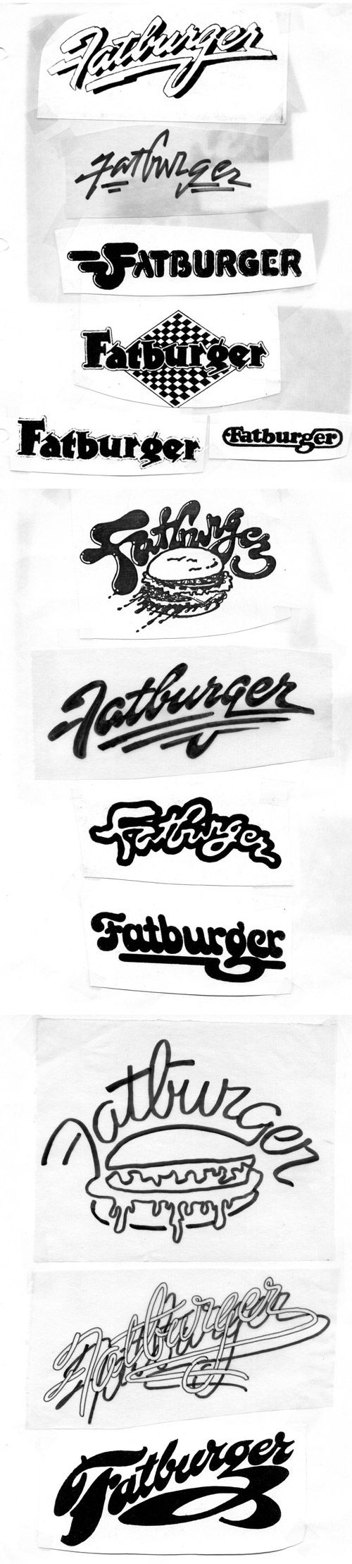 So much pileup vintage pro wrestling logos - Fatburger Logo Never Heard Of This But Still Interesting To Look At Their Logo Designs