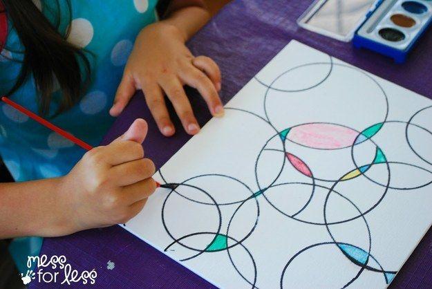 Dales líneas para colorearlas por fuera. | 27 ideas para trabajos artísticos de los niños que podrías querer colgar
