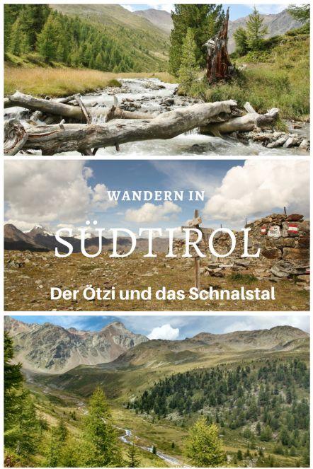 Wanderung mit Hund auf das Taschenjöchl im Schnalstal in Südtirol.