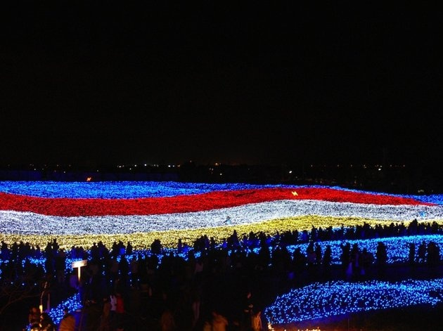 Now this is cool. At Japan's Nabana no Sato botanical garden on the island of Nagashima in Kuwana, visitors can walk through beautiful tunnels wrapped in millions of tiny LED lights. The effect, as the photos show, is dazzling.