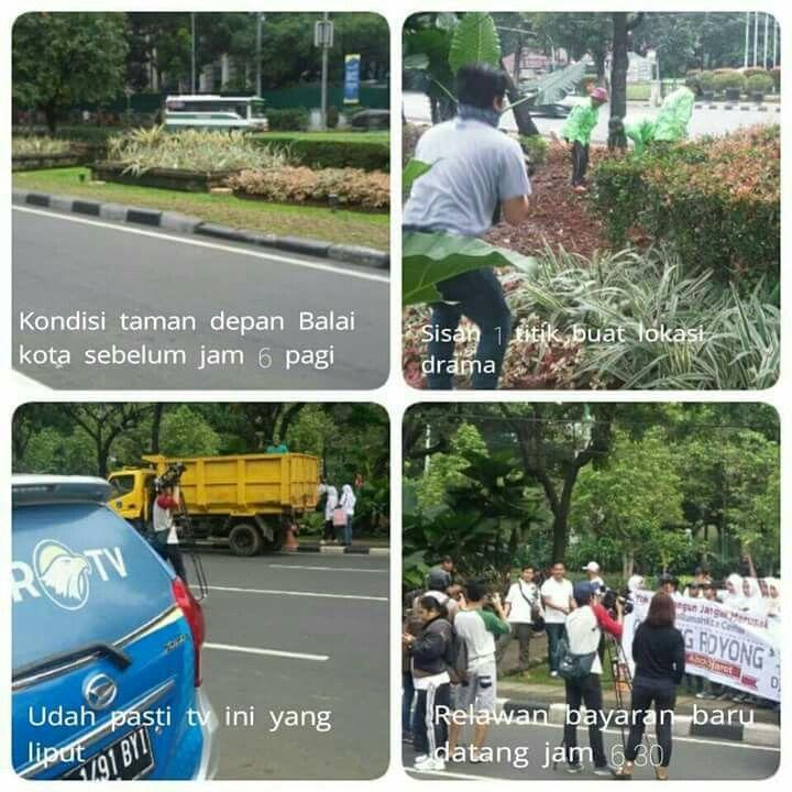 Demo ahok rusak taman kota
