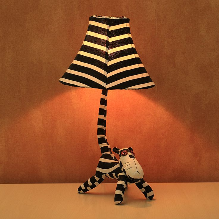 Touch Lamps Bedside | Led Energy Saving Bedroom Bedside Handmade Cartoon  Fabric Stripe .