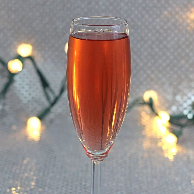 The Poinsettia drink is a champagne cocktail, which makes it ideal for holiday parties. It's light on the alcohol, easy to drink and festive.