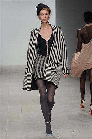Mark Fast A/W12. Stripes are always cool.