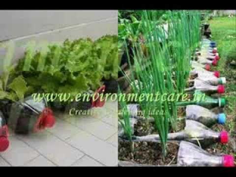 Idee creative per fare giardinaggio riciclando oggetti e materiali. #riciclare #giardinaggio #ideecreative