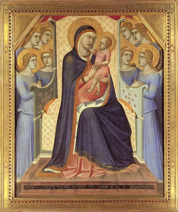 The Athenaeum - Madonna Enthroned with Angels (Pietro Lorenzetti - )