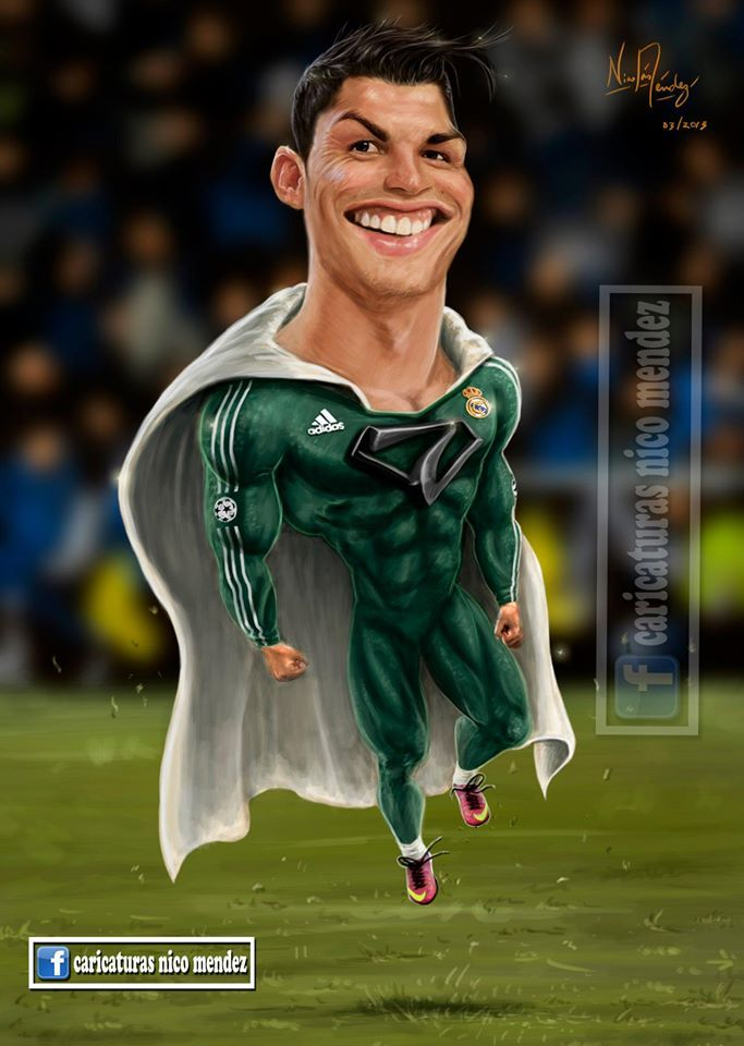 Caricatura Super Cristiano Ronaldo.