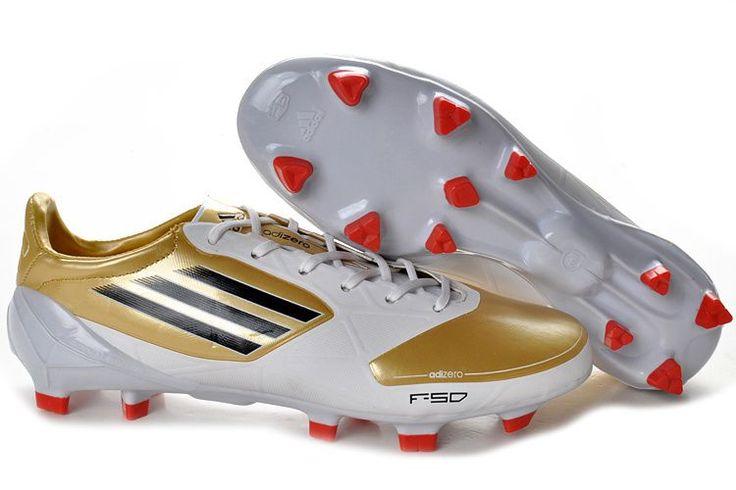 2012 adidas F50 adizero TRX FG Scarpe Calcio - Oro/Bianco