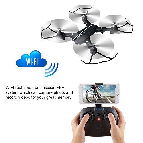 Drone With Camera Wifi FPV Altitude Hold One Key Return Function Beginners Gift  #DroneWithCameraWifiFPV