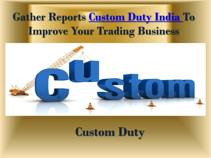 Seair Exim Solution provides Custom Duty India that is Essential your Business Growth and Helpful in Analyzing the various Market updates. Visit here for more information: https://www.seair.co.in/Custom-Duty.aspx