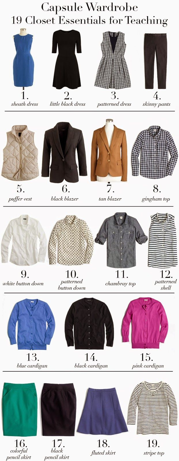 Teacher Capsule Wardrobe: 19 closet essentials for teaching