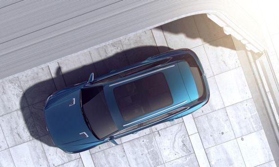 Концепт Фольксваген Т-Прайм / VW T-Prime ставший прототипом для внедорожника Volkswagen Touareg 2018 / Фольксваген Туарег 2018 – вид сверху