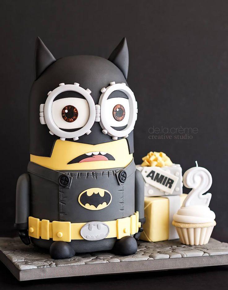 batman minion cake