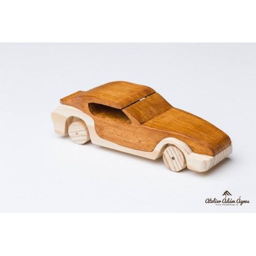 Wooden sports car #playwithwoodencar
