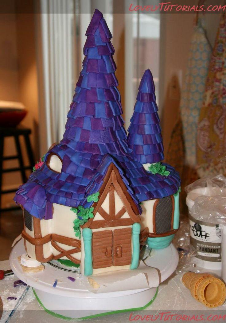 МК башня Рапунцель -Tangled tower cake tutorial - Мастер-классы по украшению тортов Cake Decorating Tutorials (How To's) Tortas Paso a Paso