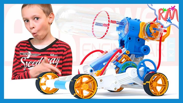 How to make ROBOT. Making air powered toy robot car @ RM Bros