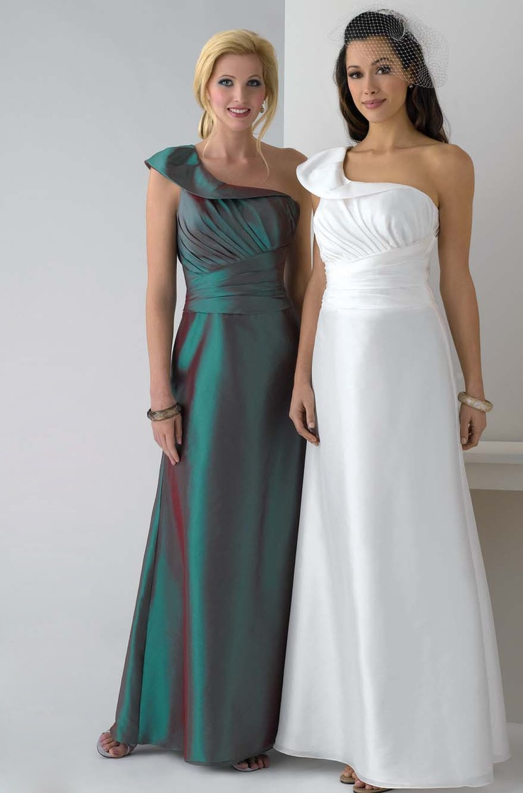 Empire Ein Schulter Taft Wadenlang Brautmutterkleider Mit Rabatt
