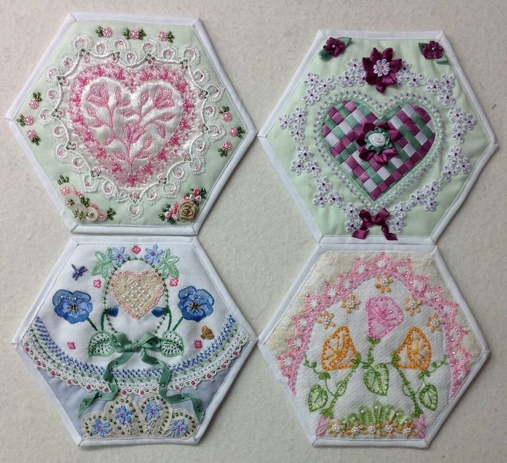 Four more fantastic hexagon blocks from creator Kay Lea.