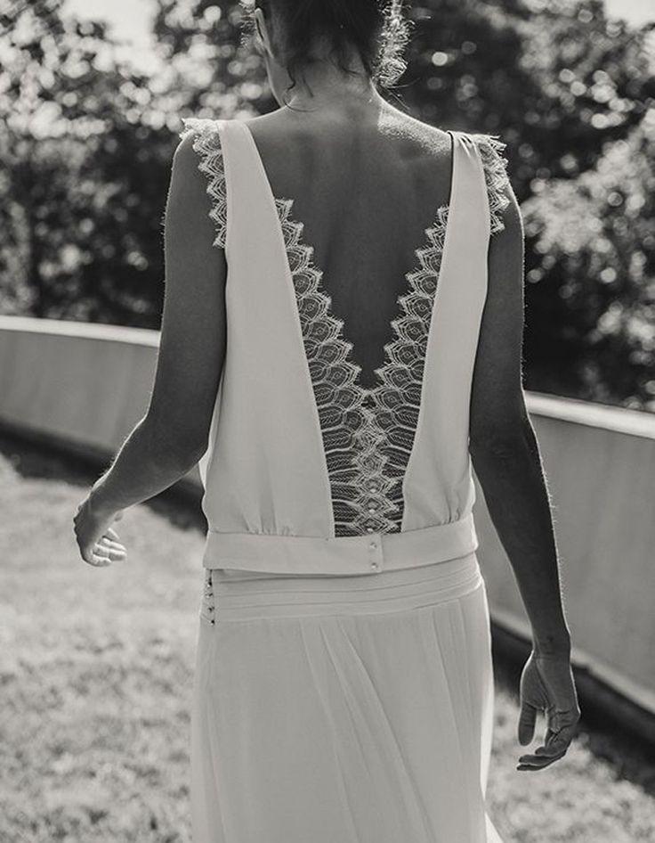 Robe de mariée dentelle rétro