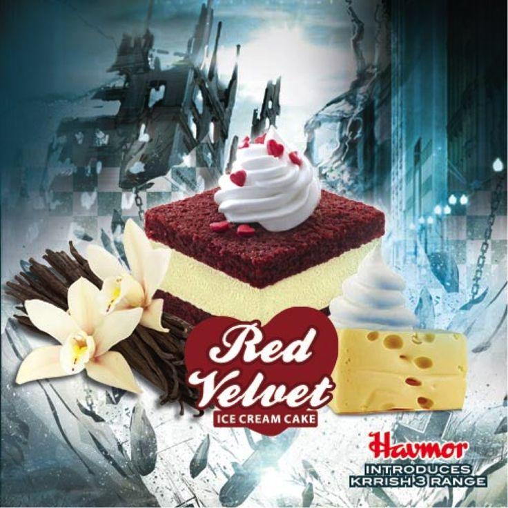Krrish 3 Red Velvet Ice Cream Cake #Krrish3 #redvelvet #icecream #cake