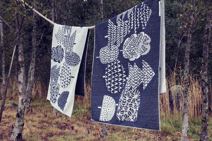 Taikametsä - Bath towels by Lapuan Kankurit http://www.lapuankankurit.fi/