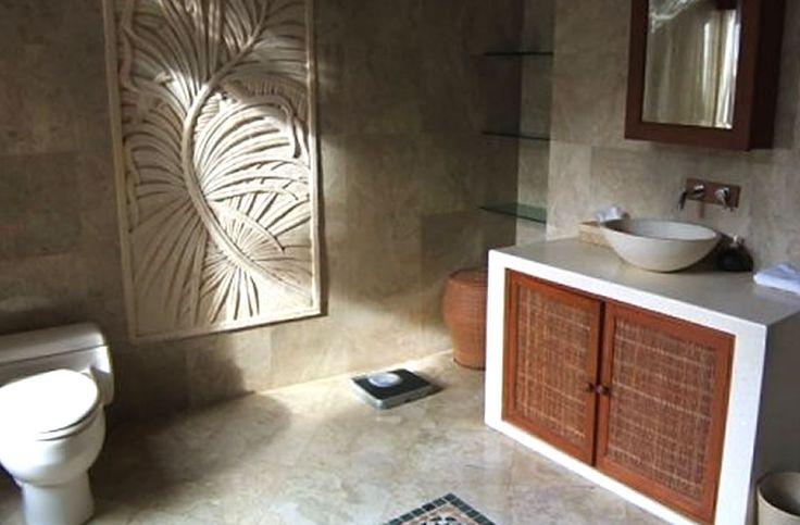 Master bathroom interior design villa gaia ubud gianyar for Balinese bathroom design